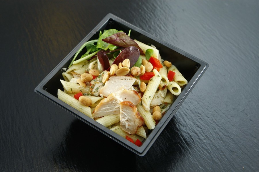 Chicken Pasta Salad - New Life Hiking Spa