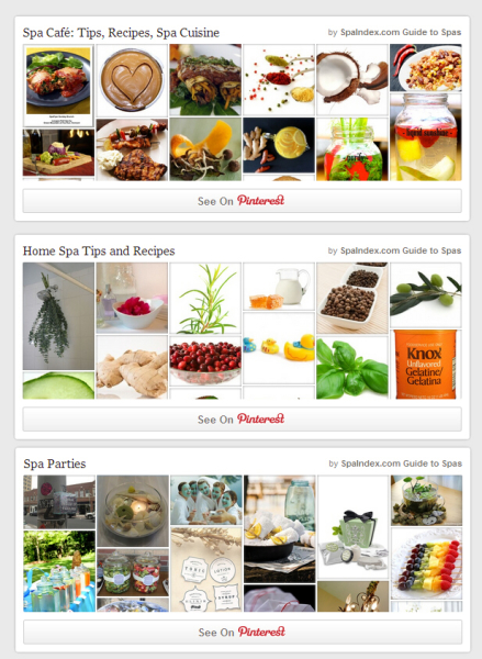 Spa Index Pinterest Boards