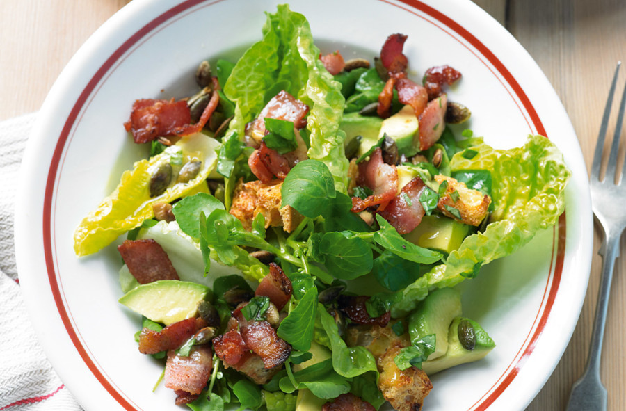 Bacon Avocado Walnut Salad (Photo by Tesco)