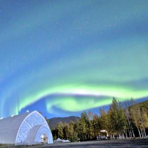 Aurora Over Chena Hot Springs Ice Museum (c) Travis Knauss