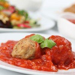 Turkey Meatballs Al Forno