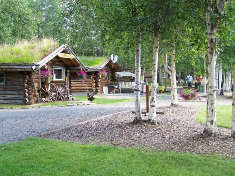 Summer Cabins at Chena Hot Springs Resort (c) Denise Ferree