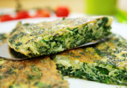 Greens and Herbs Frittata