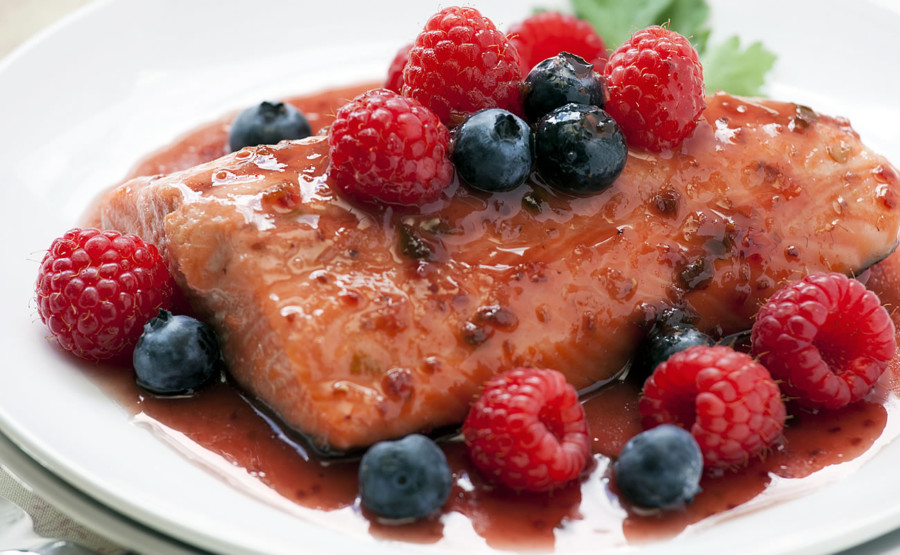 Berry Balsamic Salmon