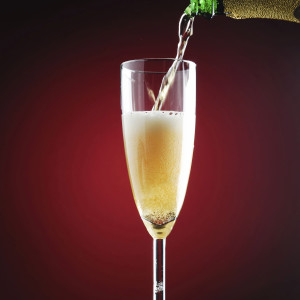 Skip the boozy Egg Nog and choose the Champagne