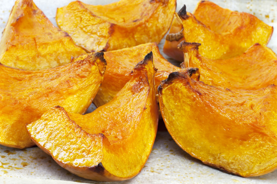 Roasted Pumpkin Wedges