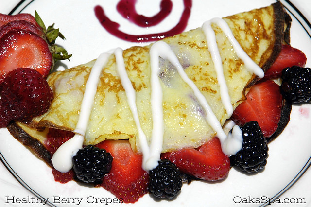 Oaks at Ojai Egg White Berry Crepes