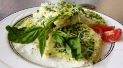 Cauliflower Flatbread with Pesto