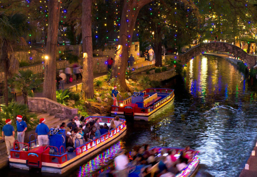 River Walk at Christmas