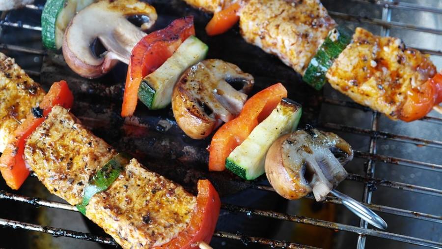 Swordfish Mushroom Kebabs