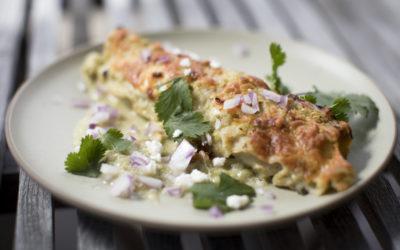 Rainbow Chard Vegetarian Enchiladas