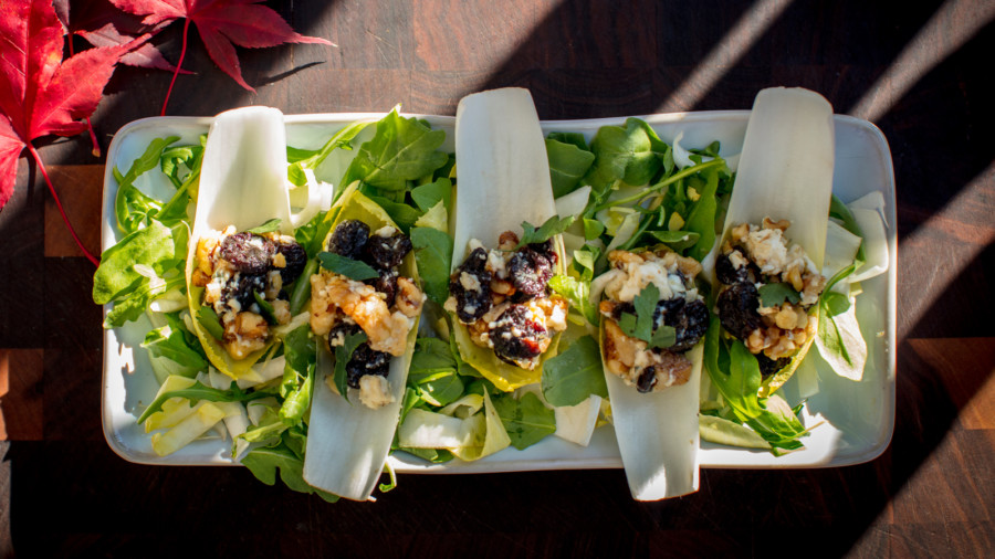 Bleu Cheese and Cherry Stuffed Endive