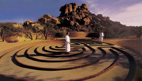 Walking the Meditation Labyrinth at Golden Door Spa, Boulders, Arizona