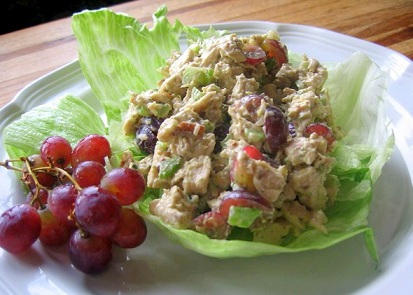 Heart Healthy Chicken Salad with Grapes