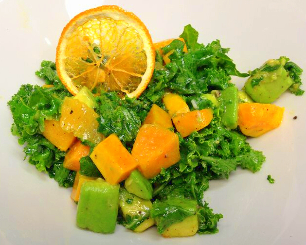 Kale Salad with Squash and Oranges