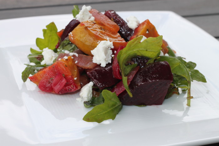 Rosemary Roasted Beet Salad with Goat Cheese Recipe
