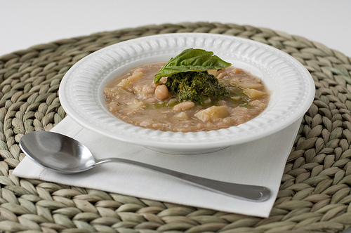 Canyon Ranch White Bean Soup with Pesto