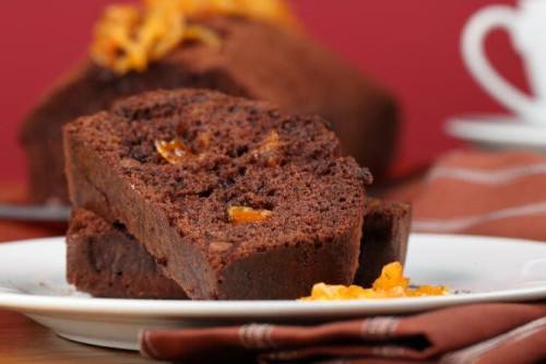 Chocolate Zucchini Cake with Orange Glaze