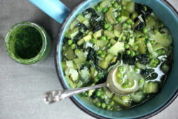 Spring Green Vegetable Minestrone | 80 Calories