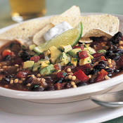 Vegetarian Chili with Avocado