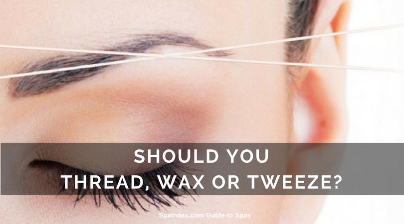Brow Threading Waxing Or Tweezing